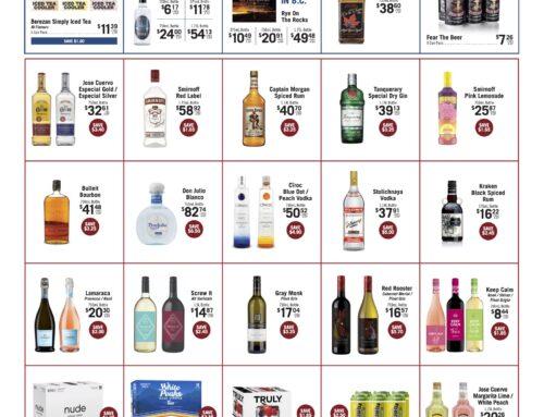August 2021 Liquor Store Specials